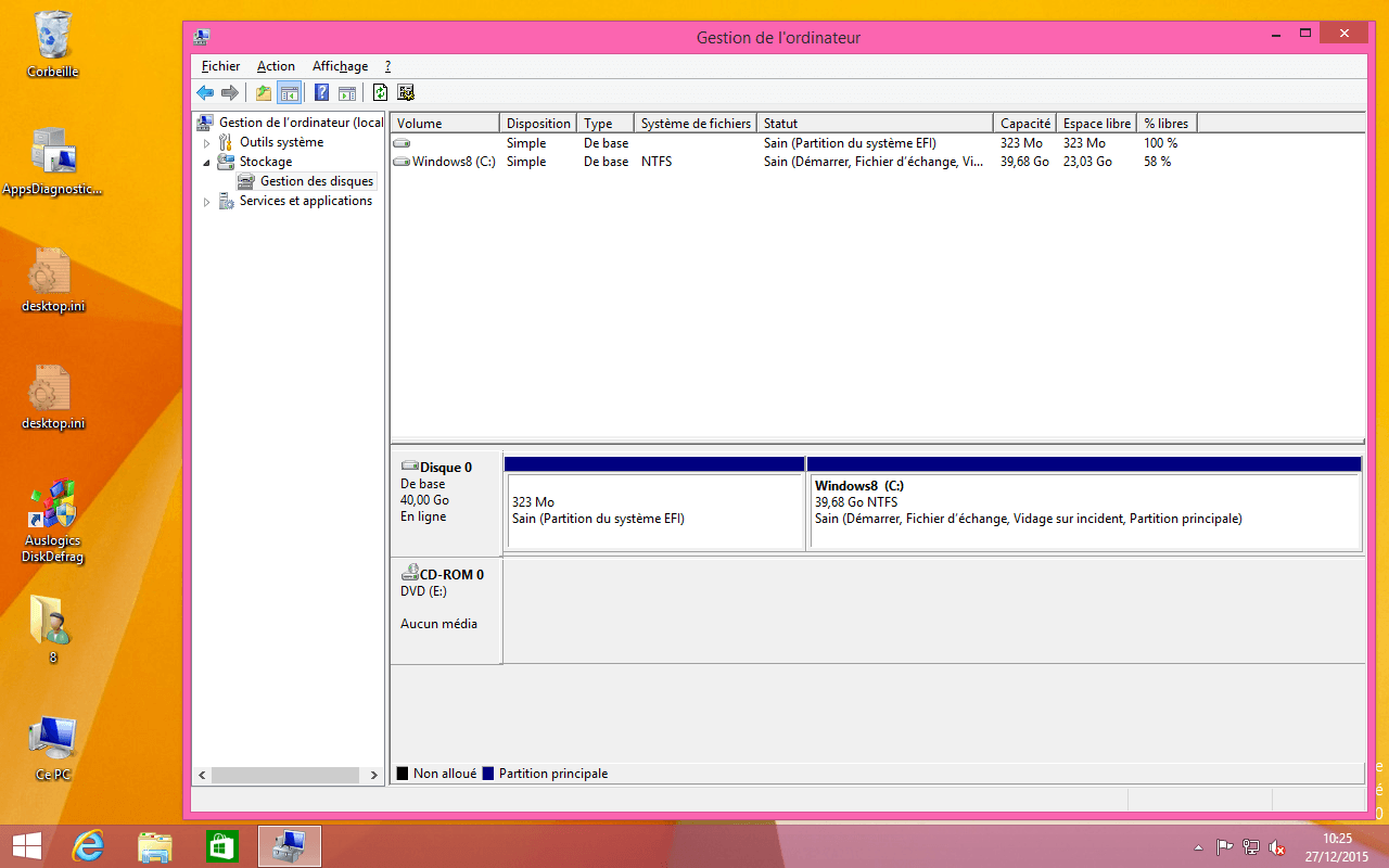 vue partitions efi et windows 8
