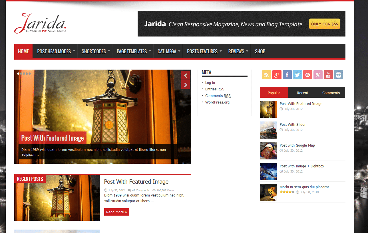 jarida-nouveau-theme-wordpress-optimise-pour-performance-pcsoleil