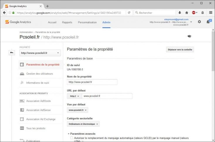 Google analytics pour pages AMP