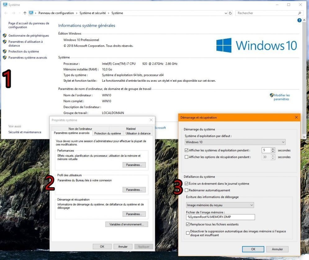 activation-enregistrement-vidage-memoire-auto-Windows-10